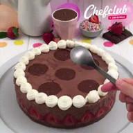 id_51947 Шоколадный тортик с клубникой и жидкой начинкой 🍓🍫🍰  Автор: Chef Club  #gif@bon