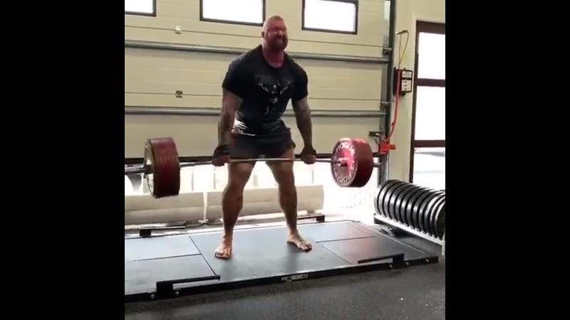 Становая тяга 350 кг 770 фунтов на 3 повторения
