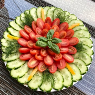 Красивые нарезки овощей и фруктов