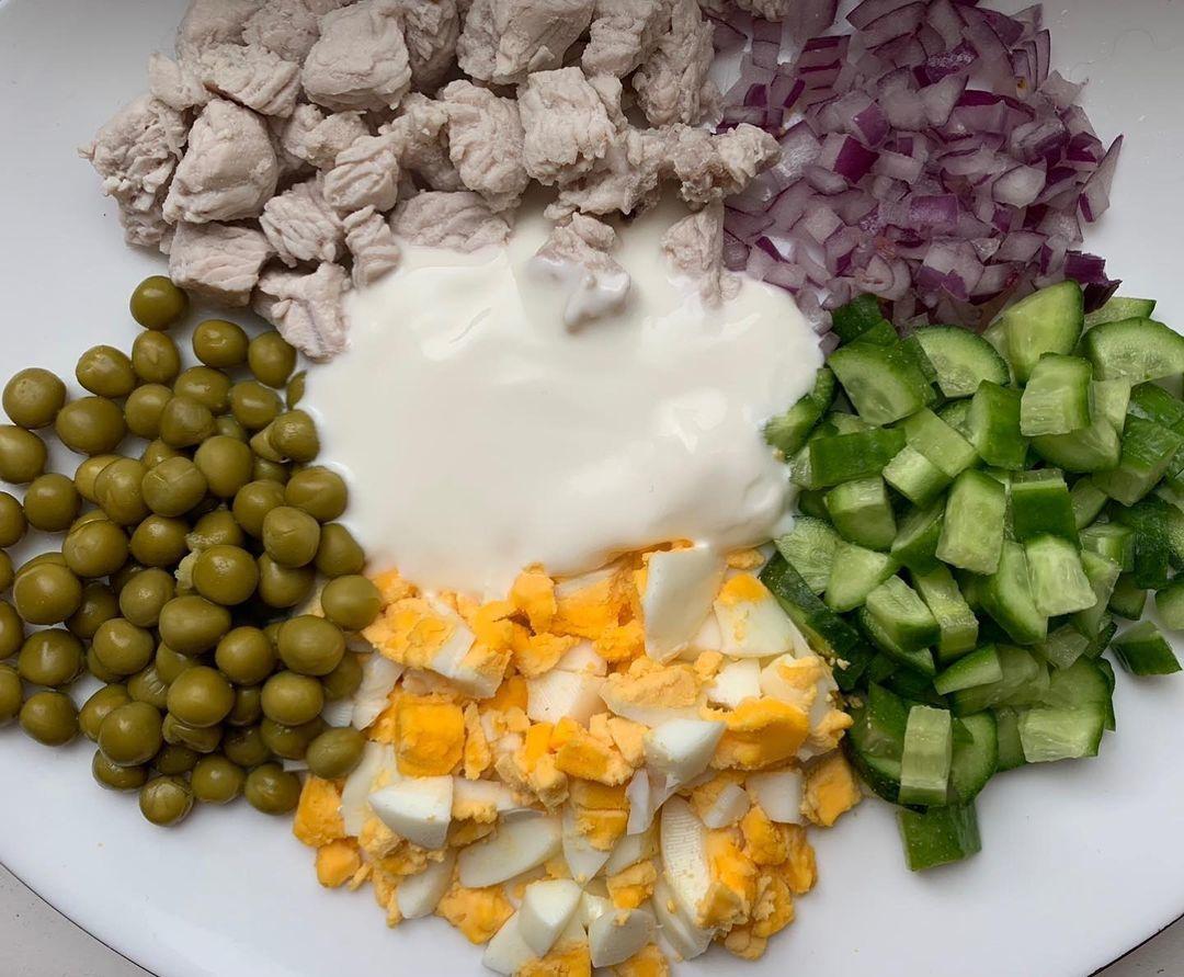 Вариант вкусного салата к ужину