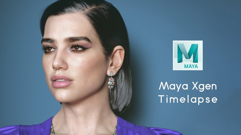Maya Xgen Timelapse Dua Lipa's hair brows lashes