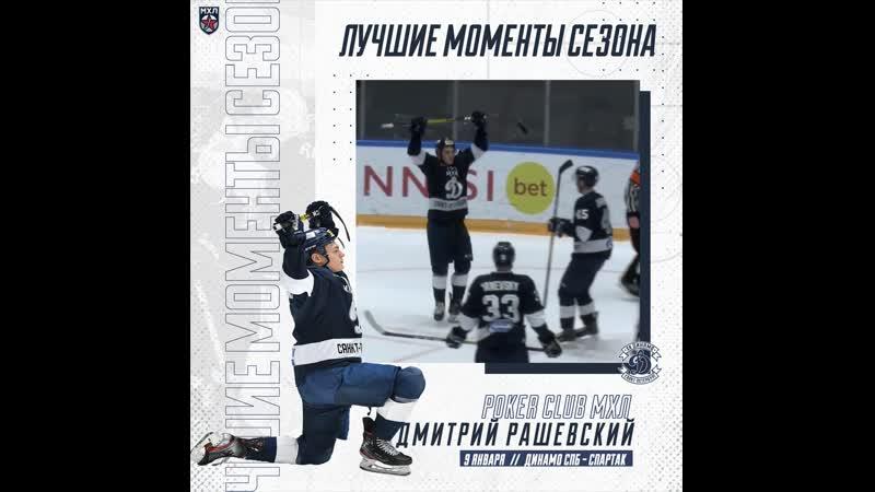 Лучшие моменты сезона 2019 2020 Покер Дмитрия Рашевского Динамо Санкт Петербург