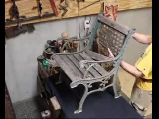 Реставрация старой садовой мебели