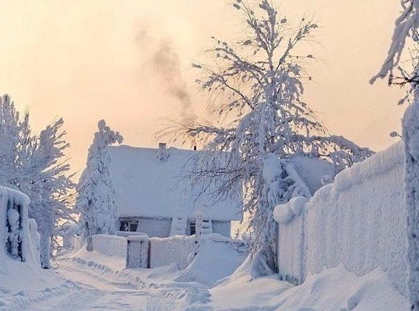 В моём детстве зима была такой.