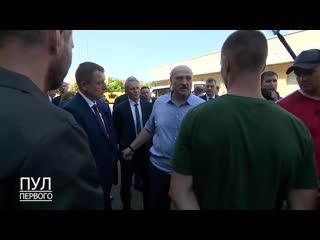Президент поговорил с парнями, которые кричали в толпе на МЗКТ