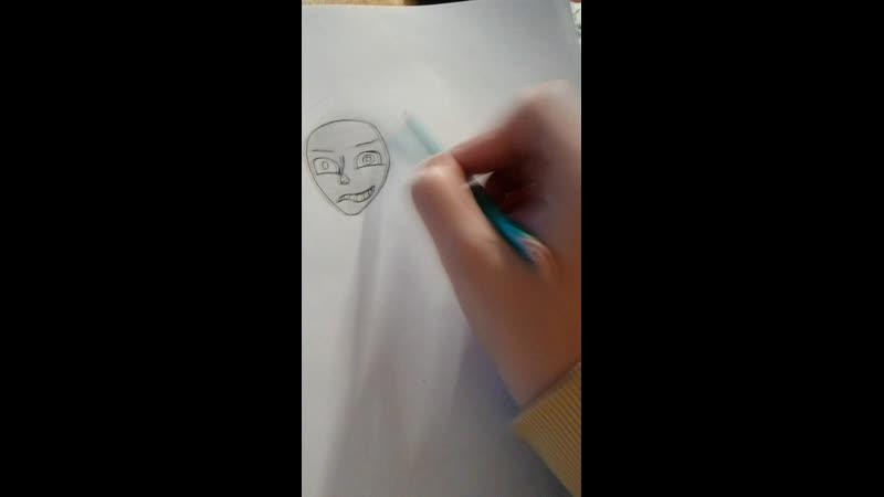 Жалкие попытки рисования анкеты Эррор Санса под концерт Задорнова