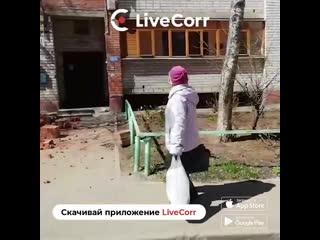 Кирпичная кладка многоэтажки рухнула на подъезд в Иваново