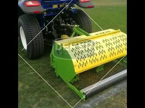 China produce lawn core aerator turf aerator turf brush turf bunker turf with best price for sale