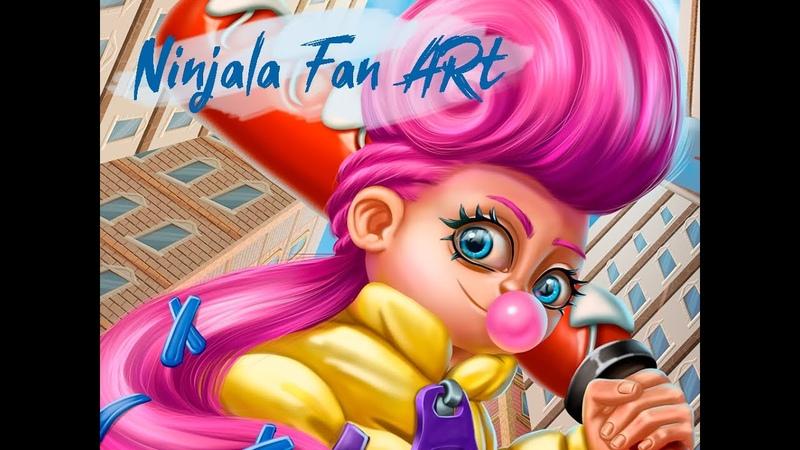 Fanart for the Ninjala game. Speedpaint in Photoshop