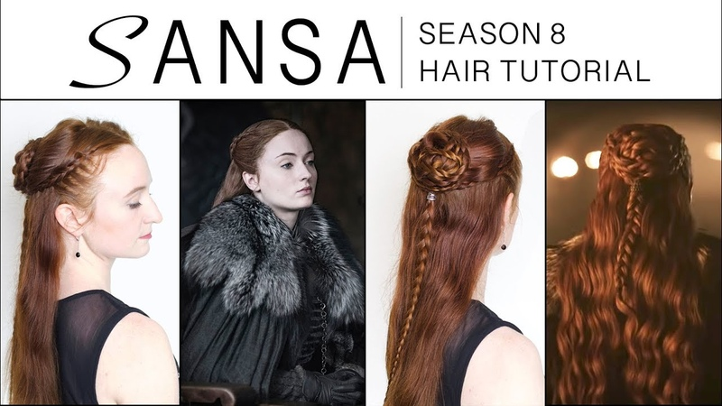 Game of Thrones Season 8 Hair Tutorial Sansa Stark