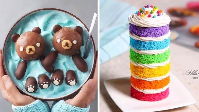 Swimming Bears Bowl Rainbow Layer Cake 🐻🌈 10 Amazing Cake Decorating Ideas (Sep) 29