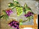 Картины вязаные крючком денежное дерево с райскими птицами money tree crochet,grapes.