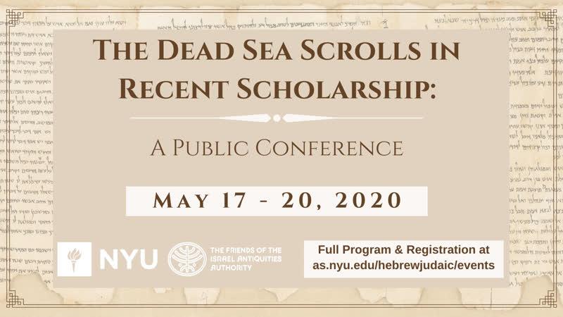 DAY 4 The Dead Sea Scrolls in Recent Scholarship Закон и литургия