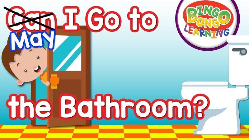 May I Go to the Bathroom Song BINGOBONGO Kids ESL EFL