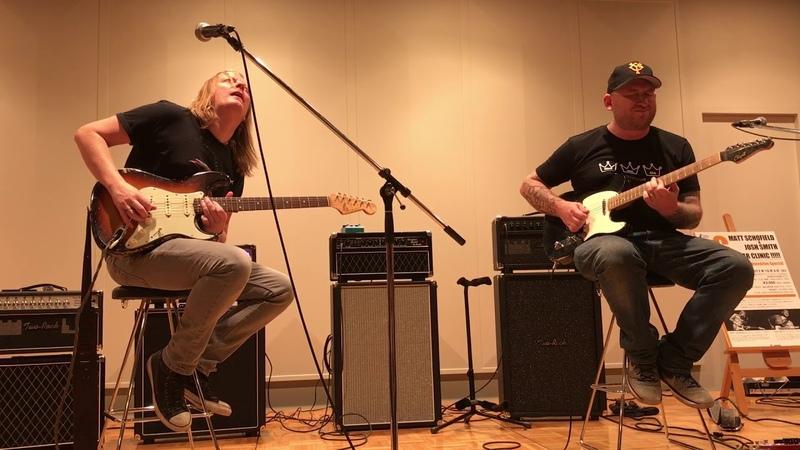 Matt schofield play guitar by dumble amp with Josh smith @yamano music in ginza Tokyo