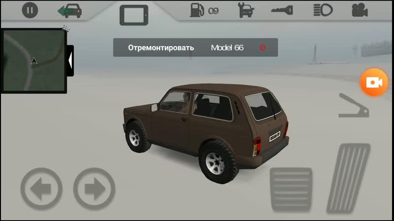 Игра в смартфон Нива Urban 4x4 в снегу Russian SUV Full HD