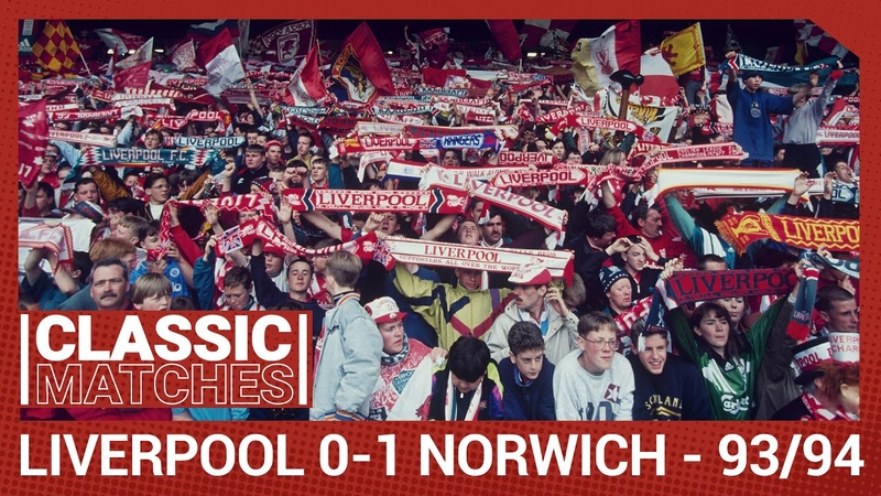 Classic Match Liverpool 0 1 Norwich City Players and fans bid farewell to the Kop