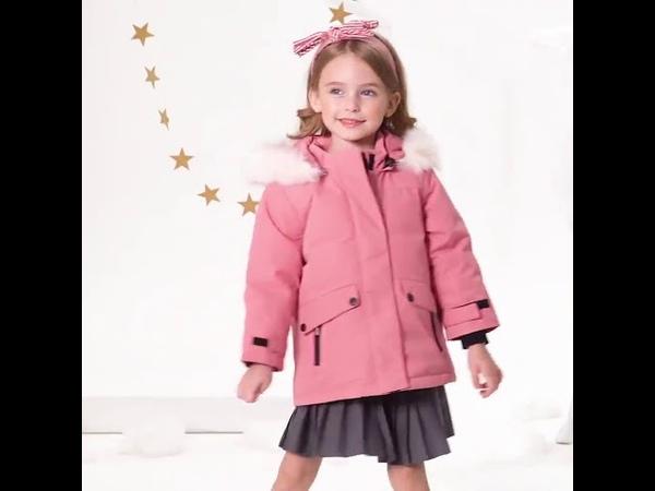Зимняя плотная куртка пуховик для девочек одежда для детей 3 10 лет верхняя одежда на белом утином пуху водонепроницаемый