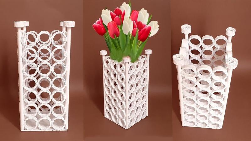 Kağıttan Vazo Nasıl Yapılır How to Make Paper Flower Vase