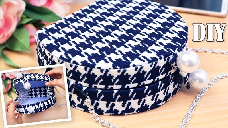 FANTASTIC DIY PURSE BAG Circular Fashion Shoulder Bags Tutorial No Sew 20 Min Cheap Way