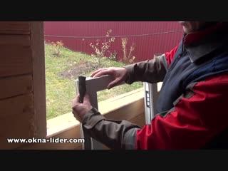 Установка пластикового окна в обсаду (окосячку) в деревянном доме или срубе