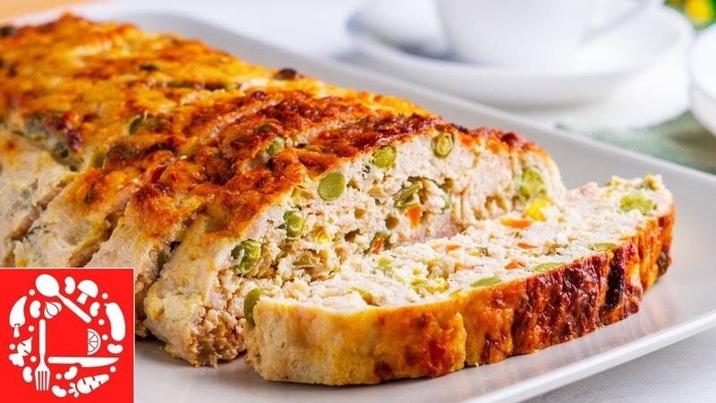Такой РУЛЕТ Вам Точно Понравится Праздничный Мясной РУЛЕТ из курицы с овощами Меню на Пасху 2019