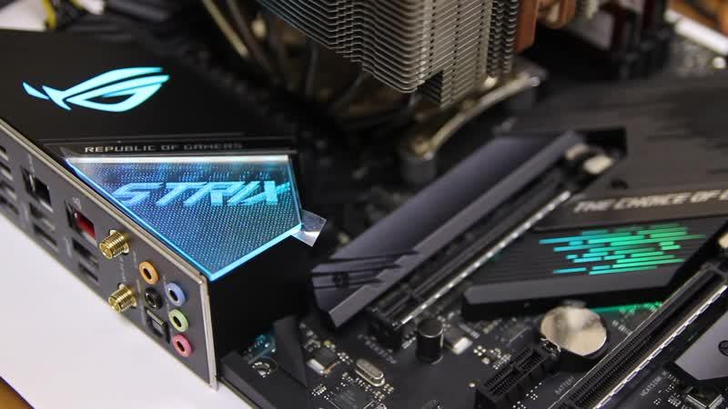 ASUS ROG Strix X570-F Gaming светится