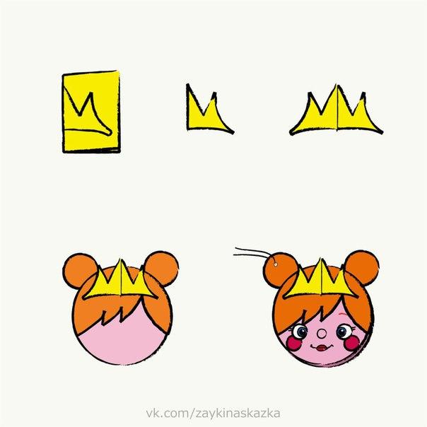 ОТКРЫТКИ СВОИМИ РУКАМИ Принцесса, медвежонок, щенок, панда и девочка