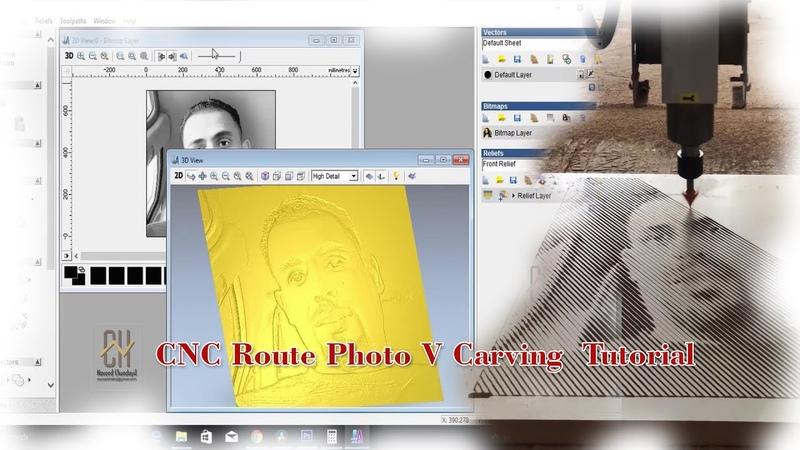 CNC Router Image Engraving on MDF | | ArtCAM Tutorial | | V bit Carving || Halftone photo tutorial