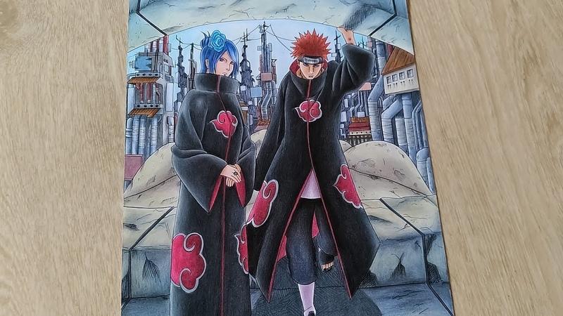 Speed Drawing Konan and Pain | Akatsuki (Naruto Shippuden)