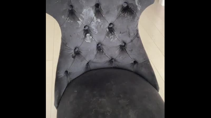 Замшевый стул чистим салфеткой инволвер
