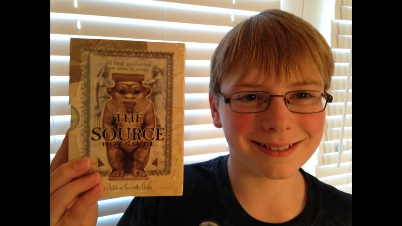 11-yr-old eats The Source (7.1 million Scoville)! Hot Sauce Review, Crude Brothers
