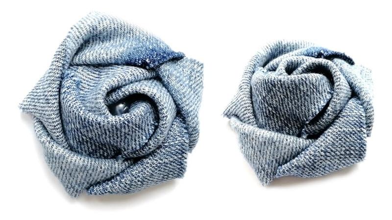 Цветок из ткани. Мастер класс Роза Flower made of fabric The Rose . DIY