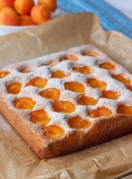 Вкуснейший Бисквитный абрикосовый пирог?
