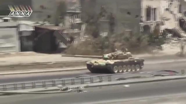 Документальные кадры Сирия Т90 бой в развалинах города