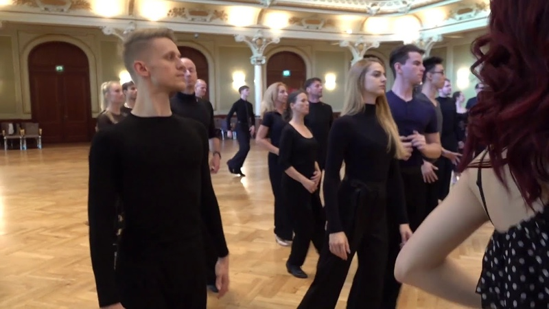 THE CAMP 2018 Ballroom Group Lesson on Position and Connection in Tango by Antonio Gioncada